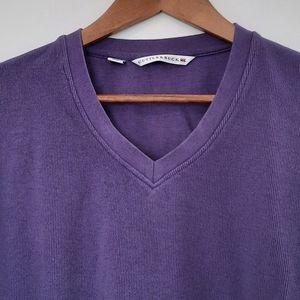 Cutter & Buck Purple V-Neck Pullover Size M